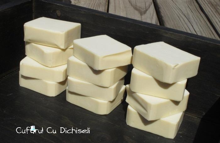 Sapun handmade realizat la rece din ulei de masline, o minune pentru piele!