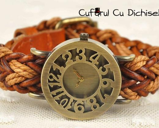 cufarul cu dichiseli, ceasuri quartz, ceas curea piele, ceas dama curea piele, ceas de mana vintage, ceasuri de mana vintage, ceasuri femei