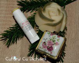 Set balsam de buze natural, sapun handmade si parfum de puls