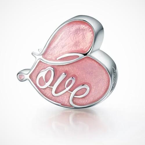 talisman din argint inima