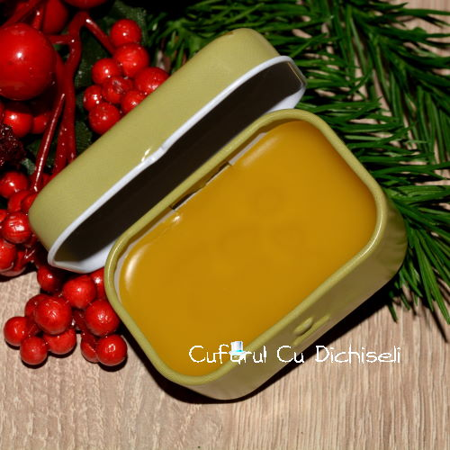 Cremă naturală cu uleiuri de cătină și gălbenele, produs cosmetic natural cu acțiune cicatrizantă și emolientă