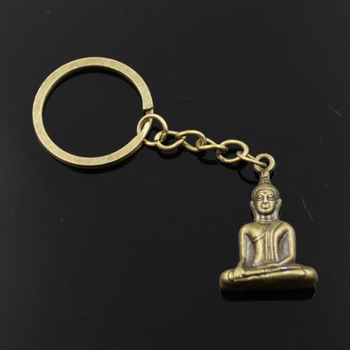 Breloc chei cu pandantiv Buddha, simbolul norocului și bunăstării.
