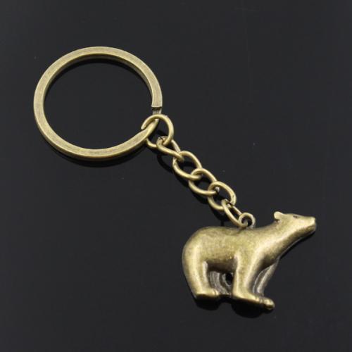 Breloc chei cu pandantiv urs, simbolul puterii și determinării.