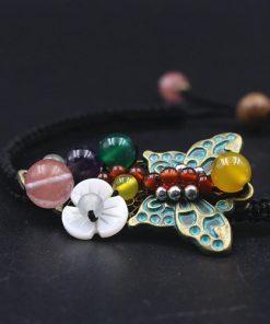 Brățară talisman cu pandantiv fluture