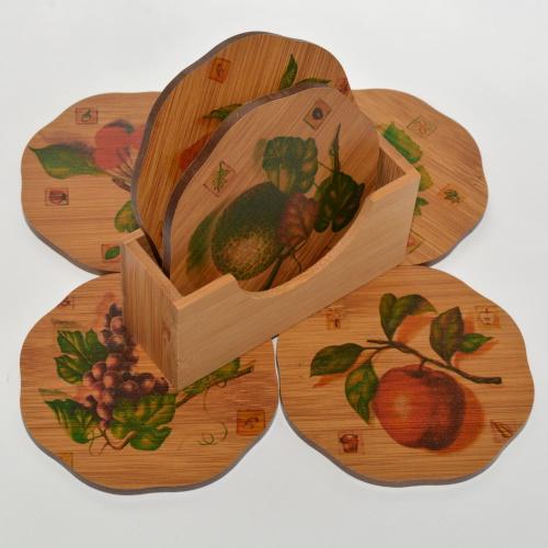 Set suport pahare și căni pentru protecție mobilier și față de masă