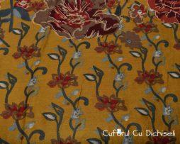 Esarfa din bumbac, pictata in culori diverse