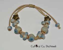 Bratari handmade din margele ceramice, diverse culori