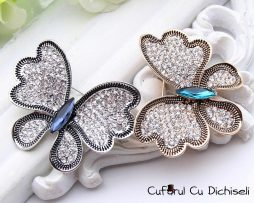 Brosa vintage, pandantiv fluture