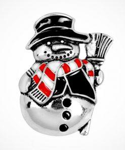 Broșe Crăciun om de zăpadă din emal