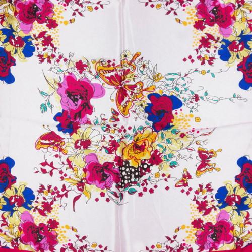 eșarfe roz cu fluturi și flori