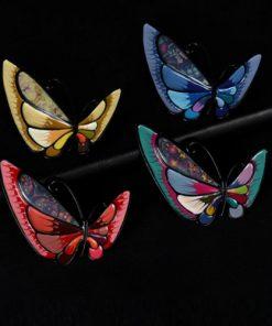 Broșă fluture email
