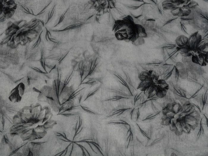Eșarfe din bumbac cu flori