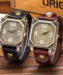Ceasuri damă curea piele diverse culori, mecanism quartz