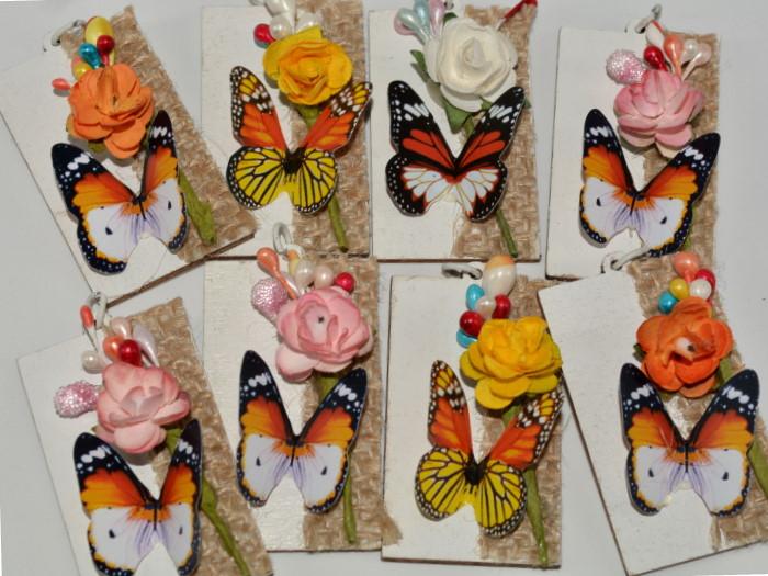 mărțișoare handmade fluturi 3D