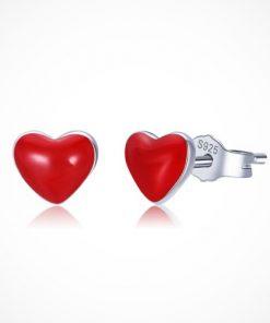cercei argint inimioară