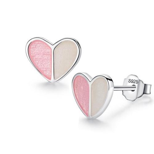 cercei inimioară argint copii