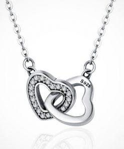 Coliere inimă din argint