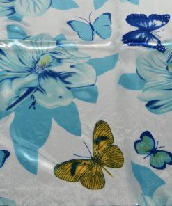 eșarfă albastră cu fluturi