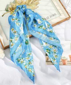 eșarfă albastră flori de colț
