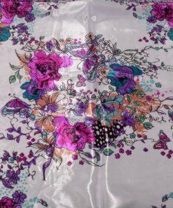 eșarfe cu fluturi și flori