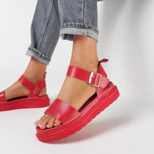 sandale de vară roșii