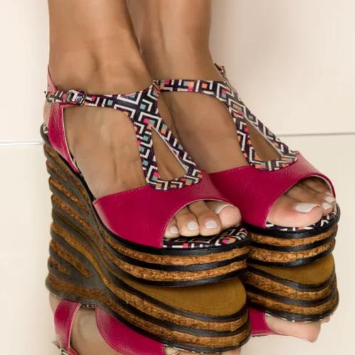 sandale rosii dyfashion