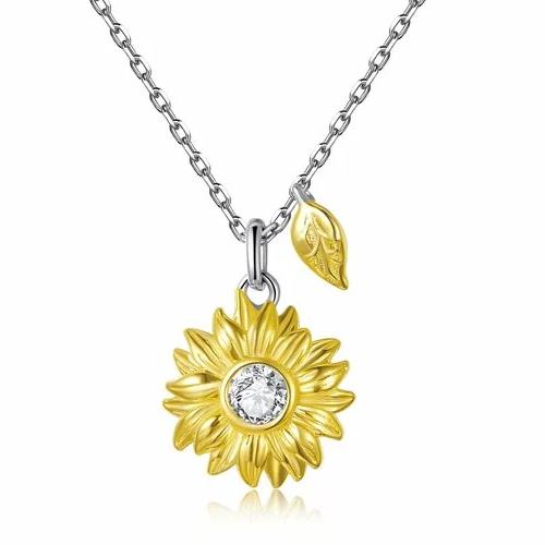 Colier din argint Amazing Sunflower