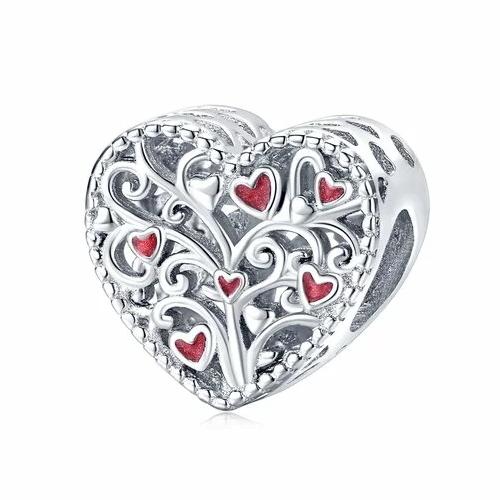 Talisman din argint Red Hearts Thorns